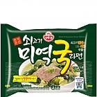 (봉지)쇠고기미역국라면(115g*32)오뚜기