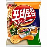 포테토칩 육개장사발면맛(60g*16)농심